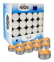Hyoola Tea Lights Candles - 400 Bulk Candles Pack - Tea Lights - European Made Tealight Candles