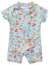 Anwell Baby Rashguard One Piece Swimsuit UPF 50+ Sun Protective Zipper Sunsuit