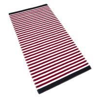 GLAMBURG Cabana Stripe Beach Towel 30X60, 100% Ringspun Cotton Beach Towels, Large Oversize Stripe Beach Bath Pool Spa Towel,Beach Blanket, Soft and Absorbent Plush Beach Cabana Towel - Red