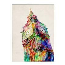 Big Ben  by Michael Tompsett, 35 by 47-Inch Canvas Wall Art