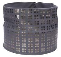 L. Erickson Metallic Geo Print Headwrap - Gray