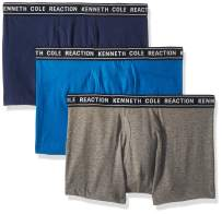 Kenneth Cole Reaction Men's Underwear Cotton Spandex Trunk, Multipack