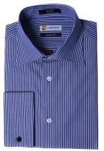 Labiyeur Slim Fit Spread Collar French Cuff Men's Cotton Dress Shirt