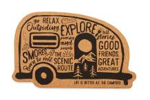 Camco 53386 Life is Better at The Campsite Cork Trivet, Graffiti RV - Effectively Protects Your Countertops, Tabletops and Other Surfaces from Heat Damage