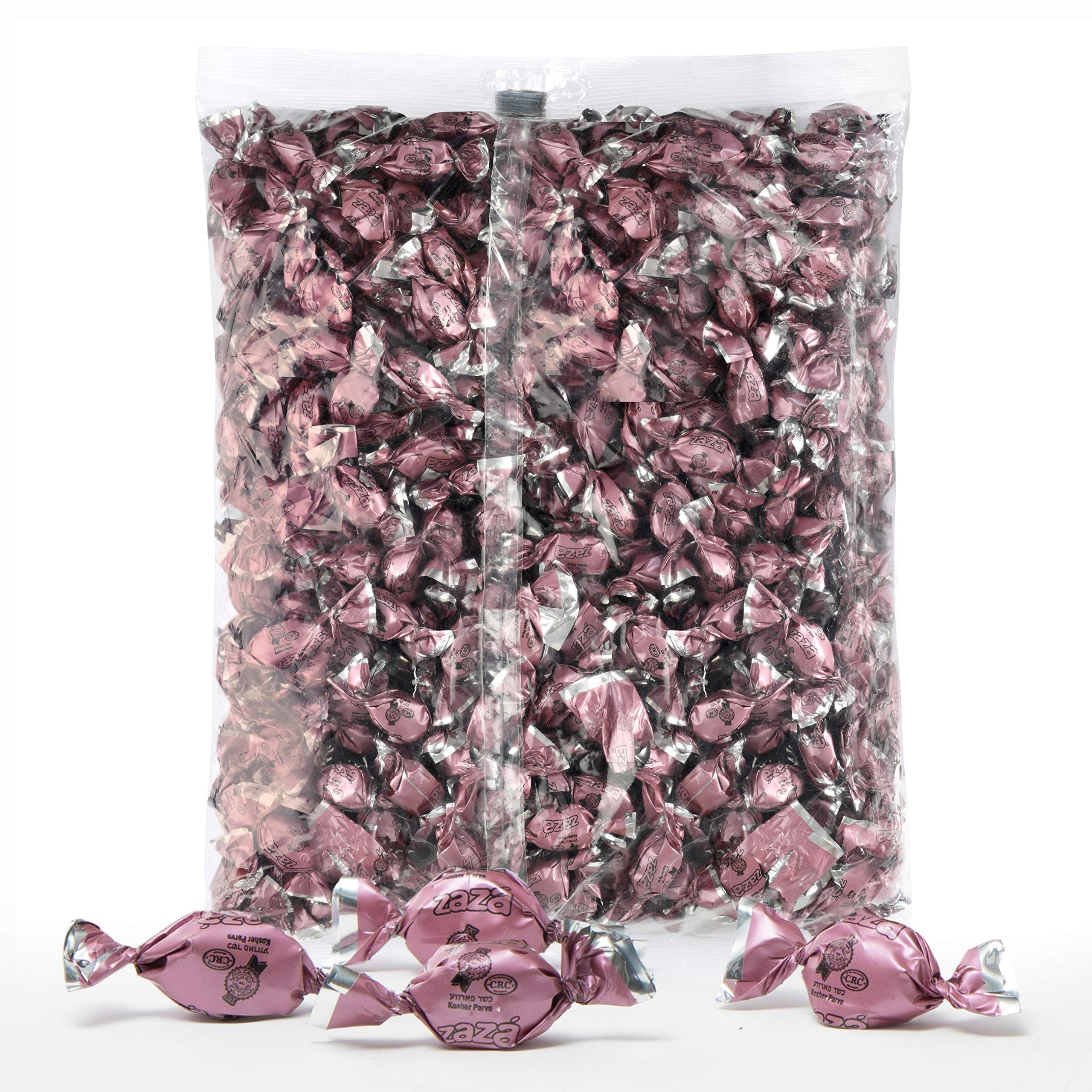 Pink Foils Hard Candy, 1.32 Pounds Bag of Pink Color Themed Kosher Mini Candies Individually Wrapped Strawberry Fruit-Filled Flavored Candy (NET WT 600g, About 310 Pieces)