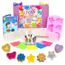 KRAFTZLAB Make Your Own Soap Educational Activity Kit for Girls and Boys | All Soap Making Supplies and Color Booklet Included Plus Gift Box | Ideal Soap Kits Gifts for Kids