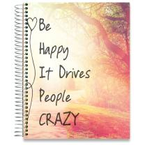 Tools4Wisdom Planner 2019-2020 Academic Year - 8.5 x 11 Hardcover - Be Happy Cover