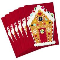 Hallmark Christmas Cards Pack, Gingerbread House (6 cards, 6 envelopes Gingerbread House) - 699XXH6056