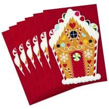 Hallmark Christmas Cards Pack, Gingerbread House (6 cards, 6 envelopes Gingerbread House) - 699XXH6056
