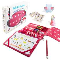 Pipity Arts and Crafts Set for Girls and Boys, Fun Activity Kit for Kids, with Games, Papercraft, Puzzles and Coloring Books. Great Gifts. Perfect for Travel. Ages 6-12