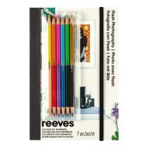 Reeves Colored Pencils by Numbers Book, Flash Photography