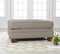"Klaussner Home Furnishings Paxton Accent Ottoman, 27""L x 42""W x 21""H, Dune"