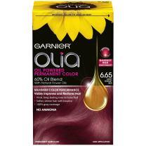 Garnier Olia Oil Powered Permanent Hair Color, 6.65 Light Garnet Red