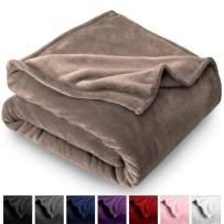 Bare Home Kids Microplush Fleece Blanket - Throw/Travel - Ultra-Soft Velvet - Luxurious Fuzzy Fleece Fur - Cozy Lightweight - Easy Care - All Season Premium Bed Blanket (Throw/Travel, Taupe)