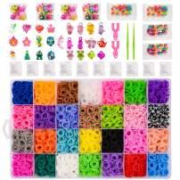 BLUESNOW 12000 DIY Loom Bands Kits,10000 Rubber Bands,DIY Kits for Girl,Rainbow Bands,Bracelet Making Kit