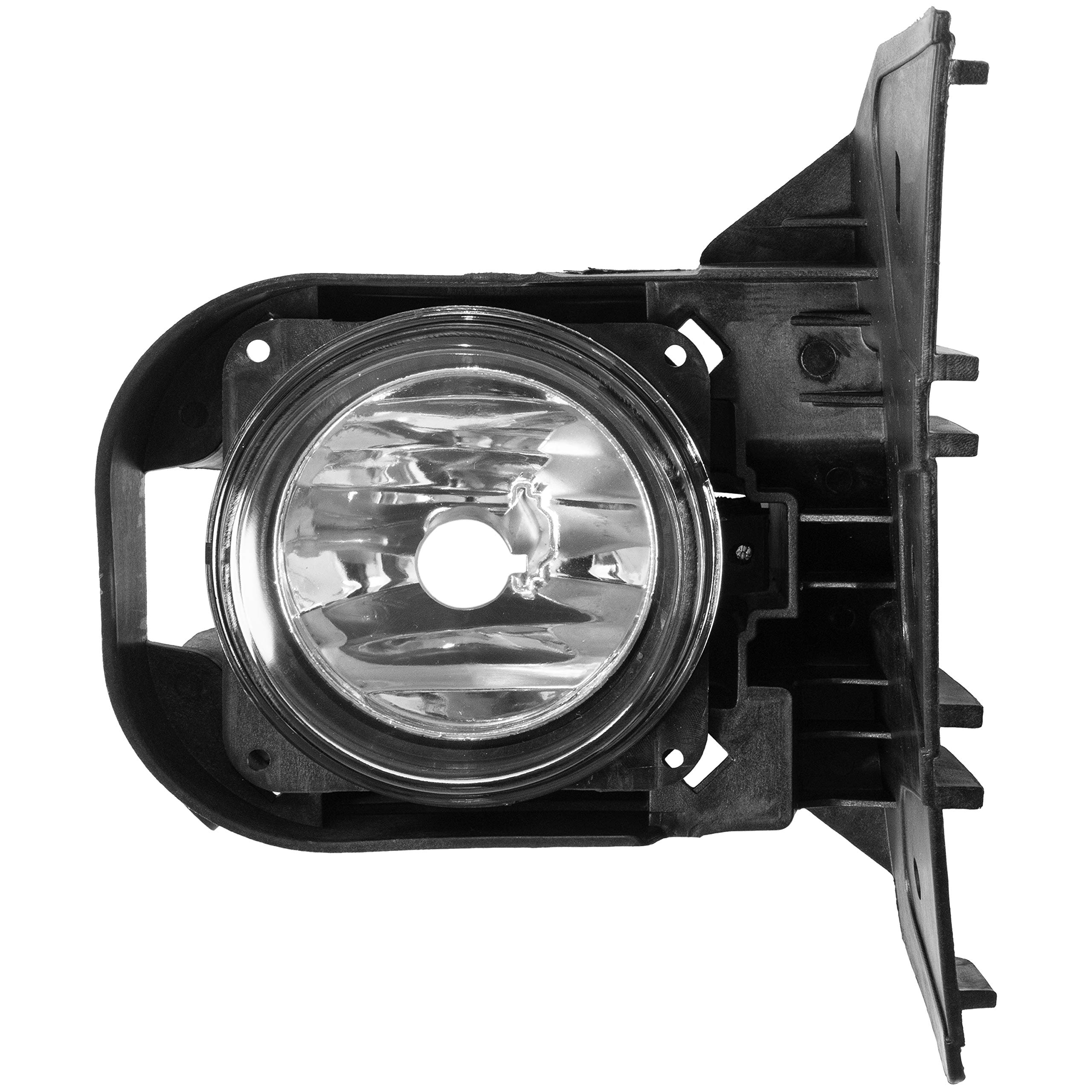 ECOTRIC New Left Front Fog Light Lamp With Bezel & Bulb & Hardware Compatible with 2000-2004 Ford F-150 Harley Davidson (Driver Side)
