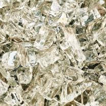 White Cloud - Fire Glass for Indoor and Outdoor Fire Pits or Fireplaces | 10 Pounds | 1/4 Inch, Reflective