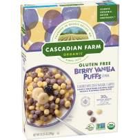 Cascadian Farm Organic Berry Vanilla Puffs Cereal, Gluten Free, 10.25 oz