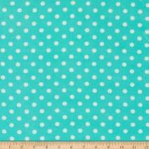 Fabric Merchants Bubble Crepe Polka Dot, Mint/White Yard