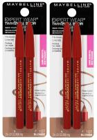 Maybelline New York Expert Wear Twin Brow & Eye Pencils Makeup, Blonde, 2 Count (Pack of 2)