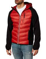Fog Men's Down Filled Hooded Jacket with Ragan Soft Shell Sleeves