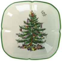 Spode Christmas Tree Sculpted Square Dish
