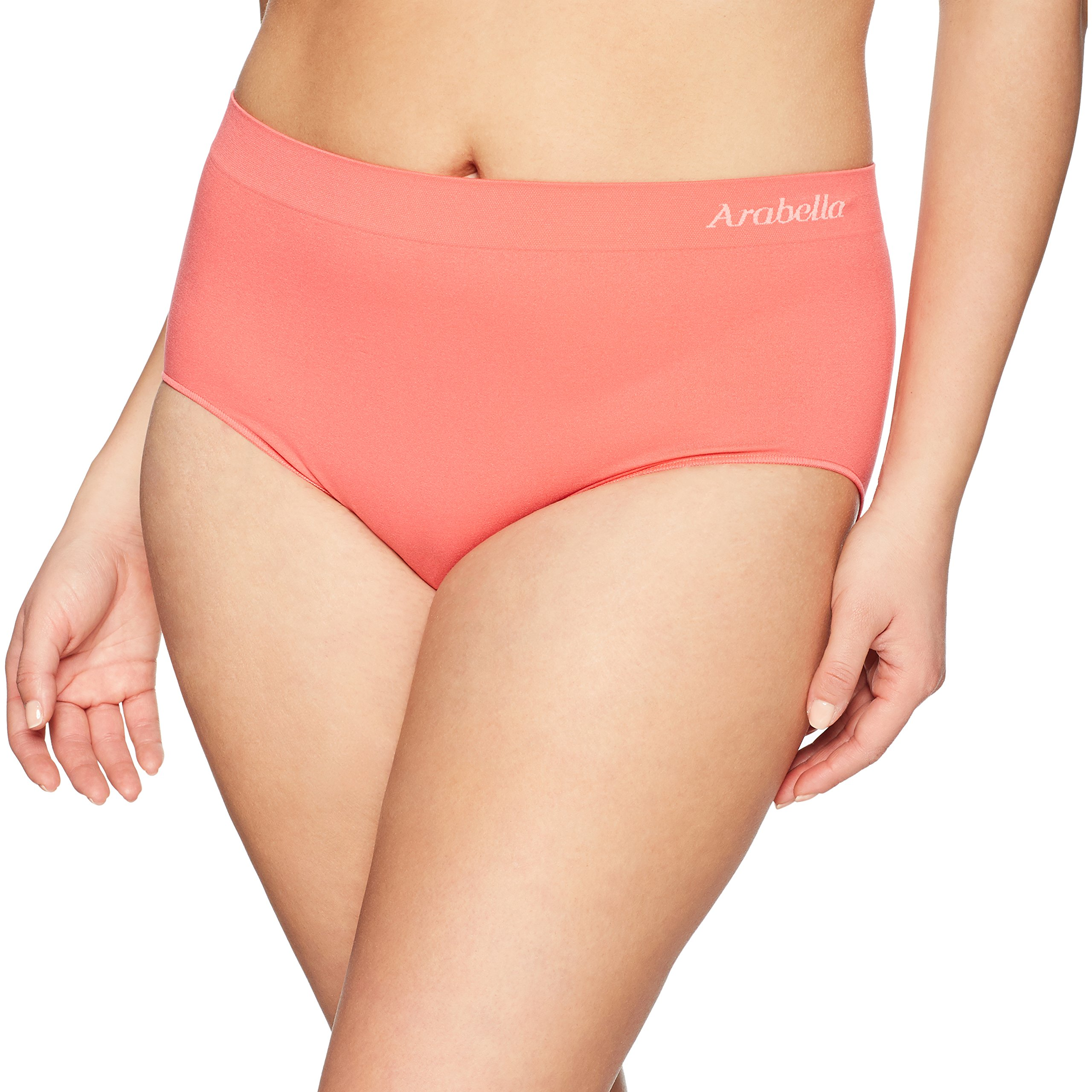 Amazon Brand - Arabella Women's Seamless Brief Panty, 3 Pack