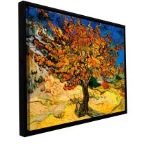 """ArtWall """"Mulberry Tree Floater Framed Gallery-Wrapped Canvas Art by Vincent Van Gogh, 24 by 32-Inch, Holds 22.5 by 30.5-Inch Image"""