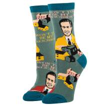Women's Novelty Crew Socks for Mister Rogers, Oooh Yeah Funny Socks, Cool Socks, (Neighborhood, Good Day)