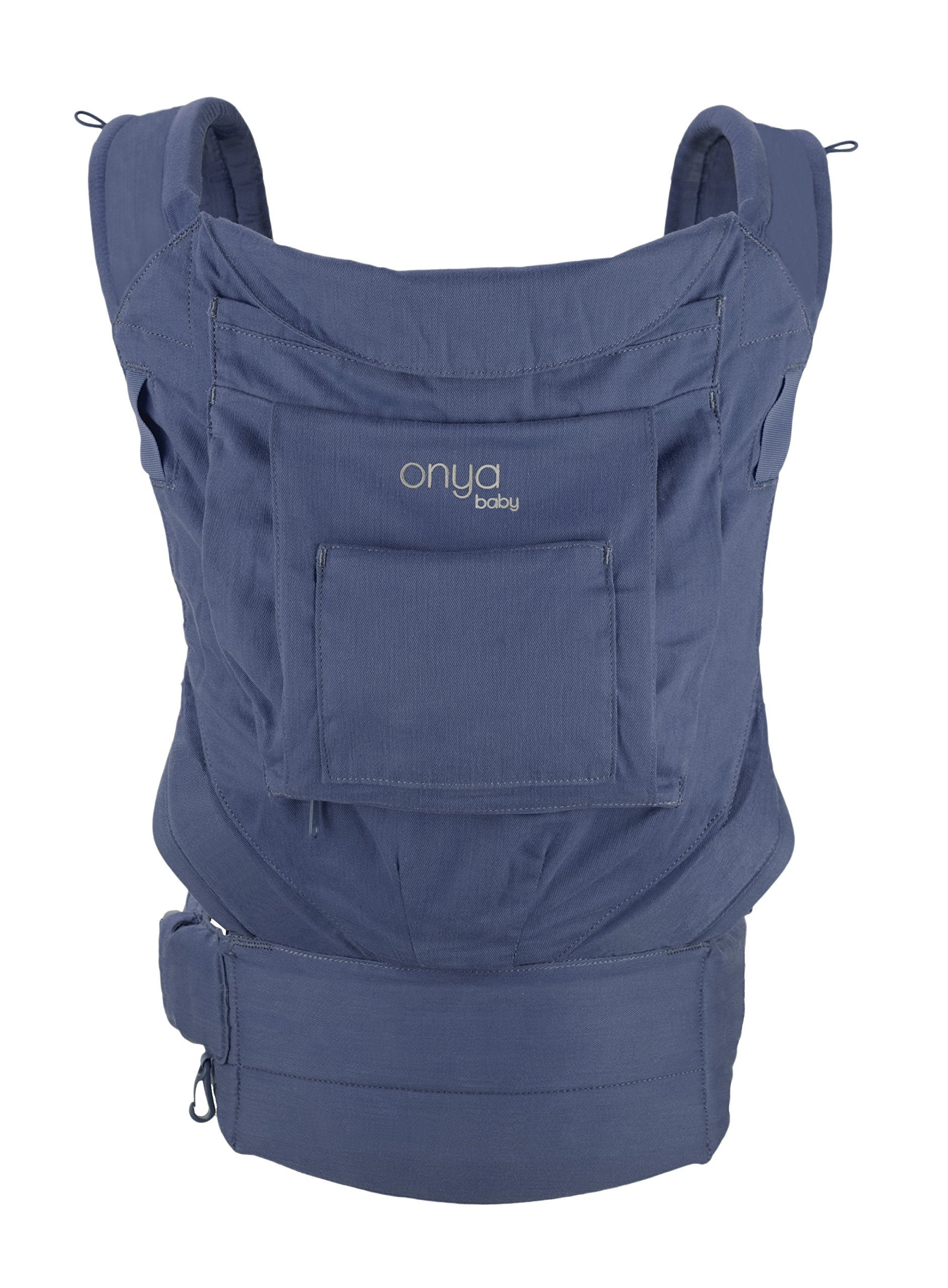 Onya Baby Cruiser Ergonomic Front and Back Infant to Toddler Carrier - Midnight Blue