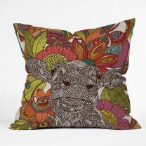 Deny Designs Valentina Ramos Arabella And The Flowers Throw Pillow, 20 x 20