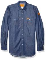 Wrangler Riggs Workwear Men's Flame Resistant Western Long Sleeve Two Pocket Snap Shirt