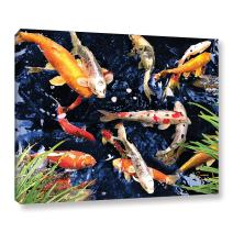 ArtWall Koi by George Zucconi Gallery Wrapped Canvas Art, 18 by 24-Inch