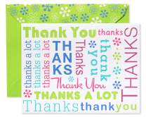 American Greetings Thank You Cards with Envelopes, Multicolored Script (50-Count) (5672245)