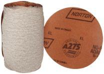 "Norton A275 No-Fil Adalox Paper Abrasive Disc, Fiber Backing, Pressure-Sensitive Adhesive, Aluminium Oxide, 3-1/2"" Diameter, Grit 320 (Roll of 100)"