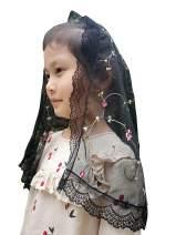Girl Veils Embroidery Veil for Chidren Church Veil Girls First Cummunion Veils V52