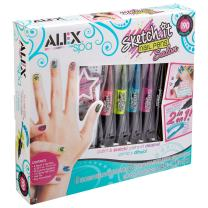 Alex Spa Sketch It Nail Pens Salon Girls Fashion Activity