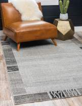 Unique Loom Del Mar Collection Contemporary Transitional Light Gray Area Rug (2' 2 x 3' 0)
