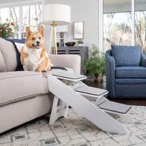 PetSafe CozyUp Steps & Ramp Combo – Dog and Cat Ramp with Stairs – Give Your Pets Easy Access to High Beds or Couch – Foldable Nonslip Design – Perfect for Small, Medium, and Large Dogs