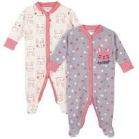 GERBER Baby Girls 2-Pack Thermal Sleep 'N Play