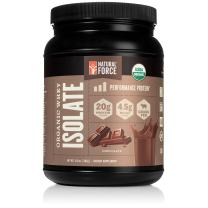 100% Organic Whey Isolate Protein Powder - USDA Organic Certified and Grass Fed – Low Carb, Lab Tested, Delicious Milk Chocolate Flavor *Made and Sourced in The U.S.A.* by Natural Force, 13.8 Ounce