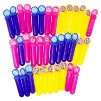 Boley 36 Count Bubble Sticks Pack - Blue, Yellow, and Pink Bubbles Sticks for Kids, Children, Toddlers - Large Bulk Pack for Party Favors and Stocking Stuffers!