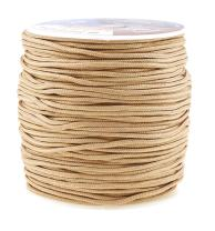 Mandala Crafts Blinds String, Lift Cord Replacement from Braided Nylon for RVs, Windows, Shades, and Rollers (2mm, Tan)