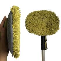 DocaPole 5-12 Foot Wall Duster Extension Pole   Chenille Microfiber Cleaning Head   For Use by Hand or with an Telescopic Pole   High Reach Duster for Walls and High Ceilings   Washable Cleaning Cloth