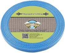 Country Brook Design - Baby Blue Polypropylene 1/2 Inch Webbing