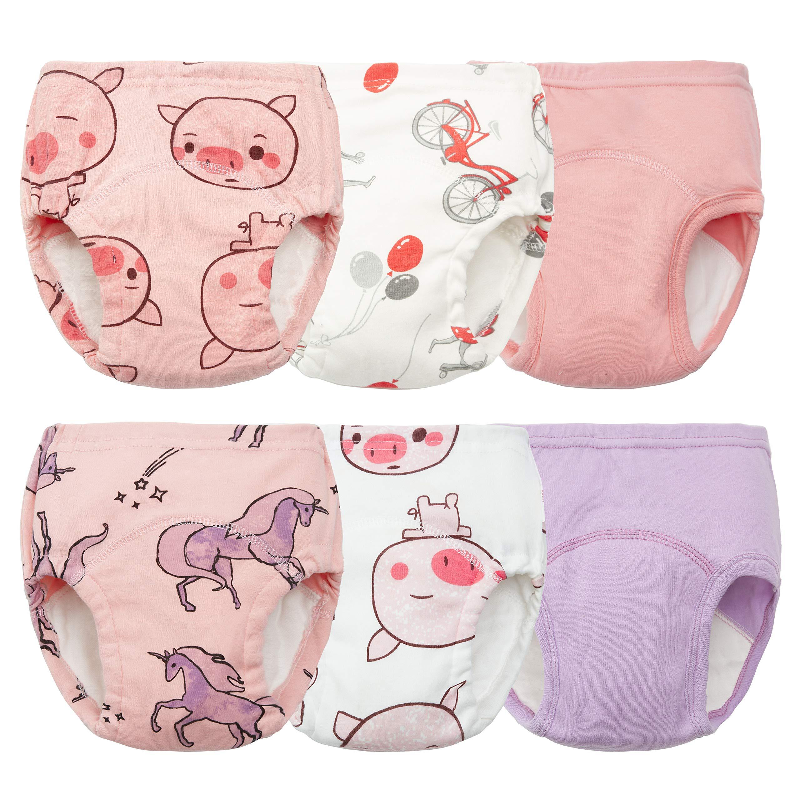Training Underwear for Girls Toddler Training Underwear Potty Training Underwear Girls 4t-5t Potty Training Pants Girls Potty Training Underwear Waterproof Training Pants for Toddlers