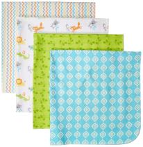 Luvable Friends Unisex Baby Cotton Flannel Receiving Blankets, Abc, One Size