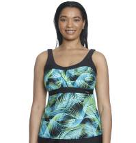 ZeroXposur Womens Peasant Tankini Top Swimsuit Bathing Suit