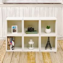 Way Basics Eco Stackable Modular Storage Cubes Cubby Organizer (Set of 6), White (Tool-Free Assembly and Uniquely Crafted from Sustainable Non Toxic zBoard paperboard)