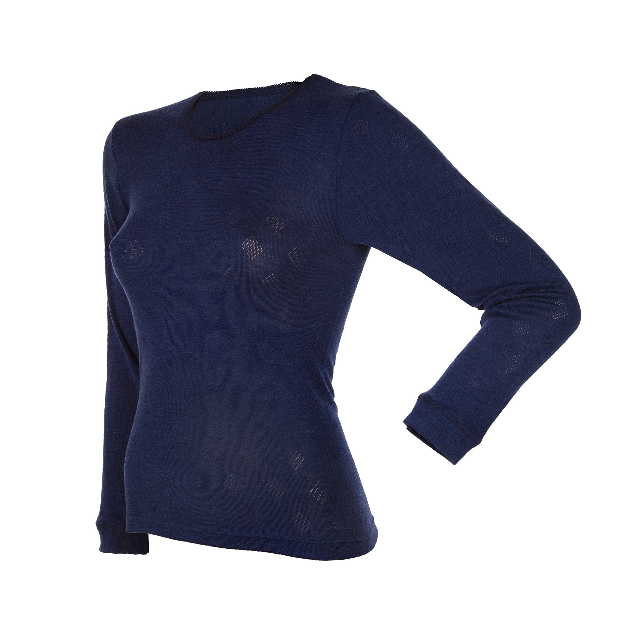 Janus 80% Merino Wool Women's Long Sleeve T-Shirt Made in Norway.